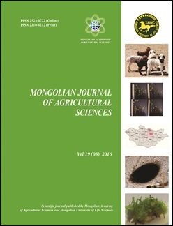 Archives | Mongolian Journal of Agricultural Sciences